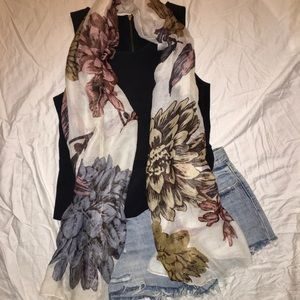 Gorgeous floral fall scarf